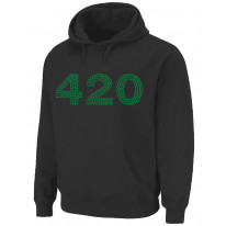 420 Marijuana Cannabis Pouch Pocket Pull Over Hoodie