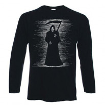 Grim Reaper Scribble Long Sleeve T-Shirt