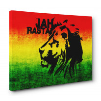 Jah Rasta Box Canvas Print Wall Art - Choice of Sizes