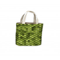 Fish Scales Green Tote Shopping Bag For Life