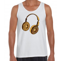 Headphone Donut DJ Men's Tank Vest Top