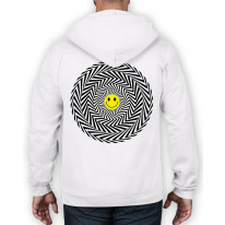 Acid Trip Smiley Face Full Zip Hoodie