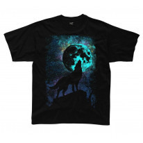 Wolf Howling at the Moon kids Children's T-Shirt