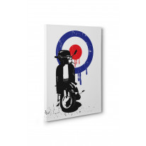 Mod Target Scooter Box Canvas Print Wall Art - Choice of Sizes