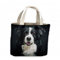 Border Collie Portrait Tote Shopping Bag For Life