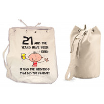 The Years Have Been Kind Men's 21st Birthday Present Duffle Backpack Bag