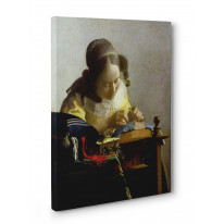 Johannes Vermeer Lacemaker Box Canvas Print Wall Art - Choice of Sizes