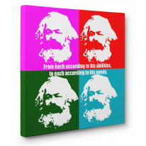 Karl Marx Box Canvas Print Wall Art - Choice of Sizes