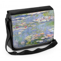 Water Lillies Claude Monet Painting Laptop Messenger Bag