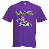 My Wife Likes to Ride My Chopper Mens T-Shirt