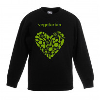 Vegetarian Heart Children's Unisex Sweatshirt Jumper