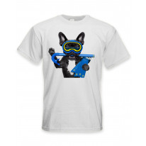 French Bulldog Scuba Diver Men's T-Shirt