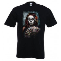 Day Of The Dead Girl With Fan T-Shirt