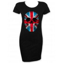 Union Jack Skull Short Sleeved T-Shirt Dress