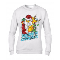 Believe In Christmas Bad Santa Claus Women's Sweater \ Jumper