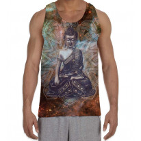 Tibetan Buddha Mandala Pattern Men's All Over Graphic Vest Tank Top
