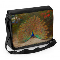 Archibald Thorburn Peacock And Peacock Butterfly Laptop Messenger Bag