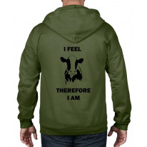 I Feel Therefore I Am Vegetarian Full Zip Hoodie