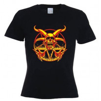 Pentagram Fire Women's T-Shirt