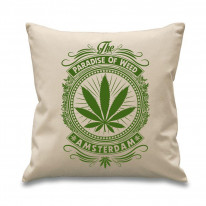 Amsterdam Paradise Of Weed Cannabis 18 x 18 Inch Filled Sofa Throw Cushion
