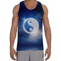 Yin and Yang Men's All Over Graphic Vest Tank Top