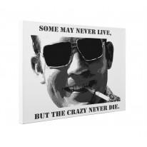 Hunter S Thompson Crazy Quote Box Canvas Print Wall Art - Choice of Sizes