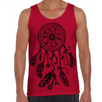 Dreamcatcher Native American Hipster Large Print Men's Vest Tank Top