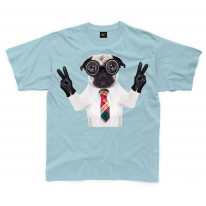Pug Dog With Goggles Kids Childrens T-Shirt