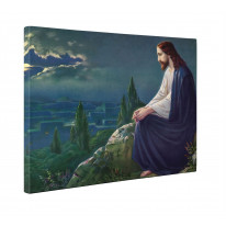 Jesus Christ at the Mount of Olives Josef Untersberger Box Canvas Print Wall Art - Choice of Sizes
