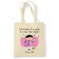 Chocolate and a Smile and a New Hairstyle 18th Birthday Tote Shoulder Shopping Bag
