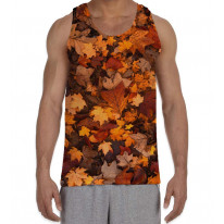 Autumn Leaves on Floor Men's All Over Graphic Vest Tank Top