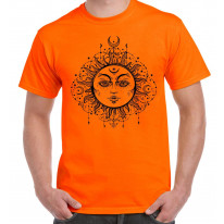 Boho Sun Hipster Tattoo Large Print Men's T-Shirt