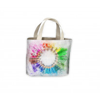 Colourful Pencils Drawing Tote Shopping Bag For Life
