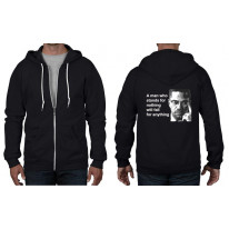 Malcolm X Man Quote Full Zip Hoodie
