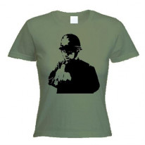 Banksy Rude Copper Womens T-Shirt