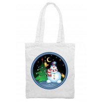 Snowman With Tree Christmas Shoulder Bag