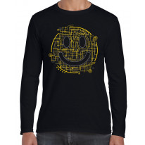 Electric Smiley Acid Face Long Sleeve T-Shirt