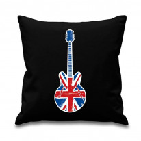 Union Jack Guitar Scatter Cushion