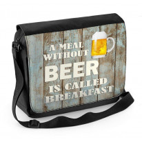 A Meal without Beer is called Breakfast Laptop Messenger Bag
