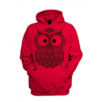 Cross Eyed Owl Men's Pouch Pocket Hoodie Hooded Sweatshirt