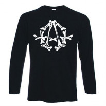 Anarchy Symbol Bones Logo Long Sleeve T-Shirt