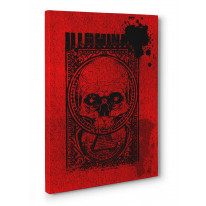 Illuminati Skull Box Canvas Print Wall Art - Choice of Sizes