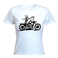 Skeleton Biker Women's T-Shirt