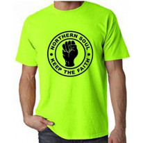 Northern Soul Keep The Faith Neon T-Shirt