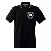 Northern Soul Keep The Faith Dancer Logo Men's Contrast Tipped Polo Shirt