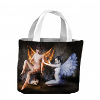 Angel and Devil Female Nudes Tote Shopping Bag For Life
