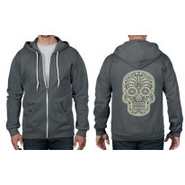 Sugar Skull Day Of The Dead Full Zip Hoodie