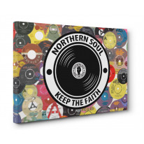 Northern Soul Vinyl Record Canvas Print Wall Art - Choice Of Sizes