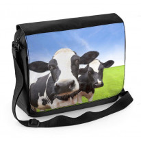 Cow Herd Laptop Messenger Bag
