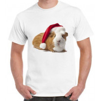 Santa Claus Guinea Pig Men's Christmas T-Shirt